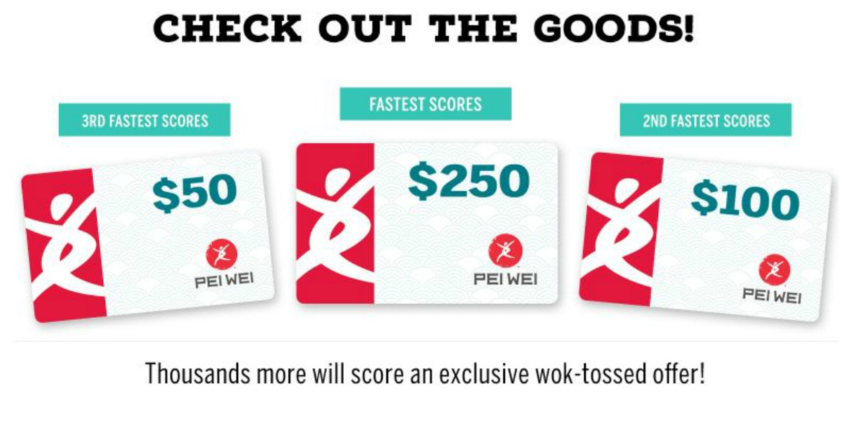 Pei Wei Gift Cards are up for grabs! - MWFreebies